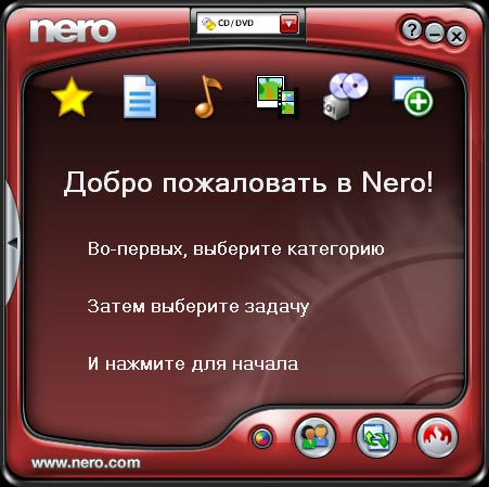 nero 7 запись dvd ram: